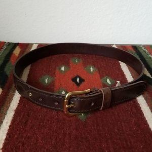 Lauren Ralph Lauren Tooled Leather Belt - Small